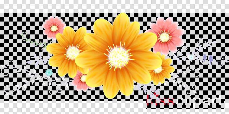flower border flower background clipart flower yellow petal transparent clip art flower border flower background clipart