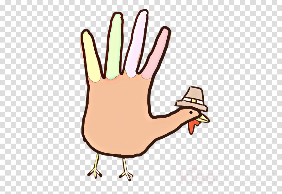 finger hand cartoon thumb line