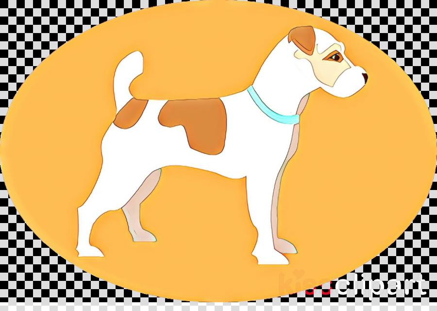 dog cartoon yellow english foxhound fawn