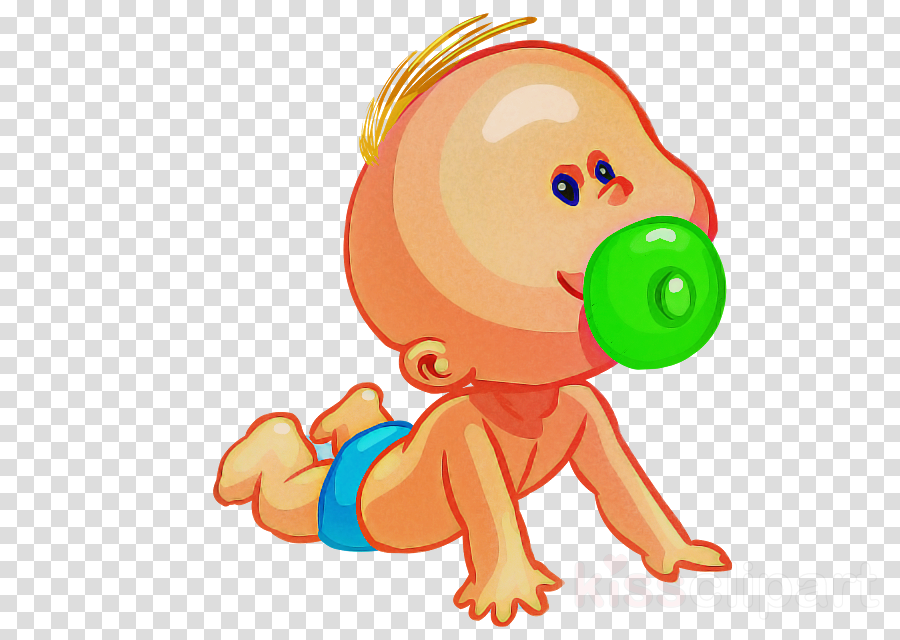 cartoon sticker child crawling