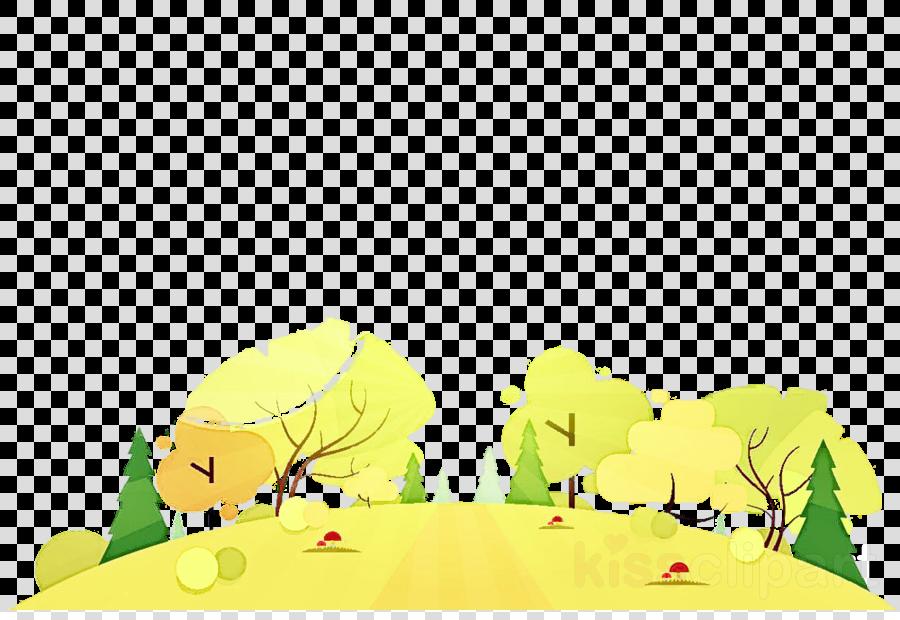 green yellow nature cartoon animation