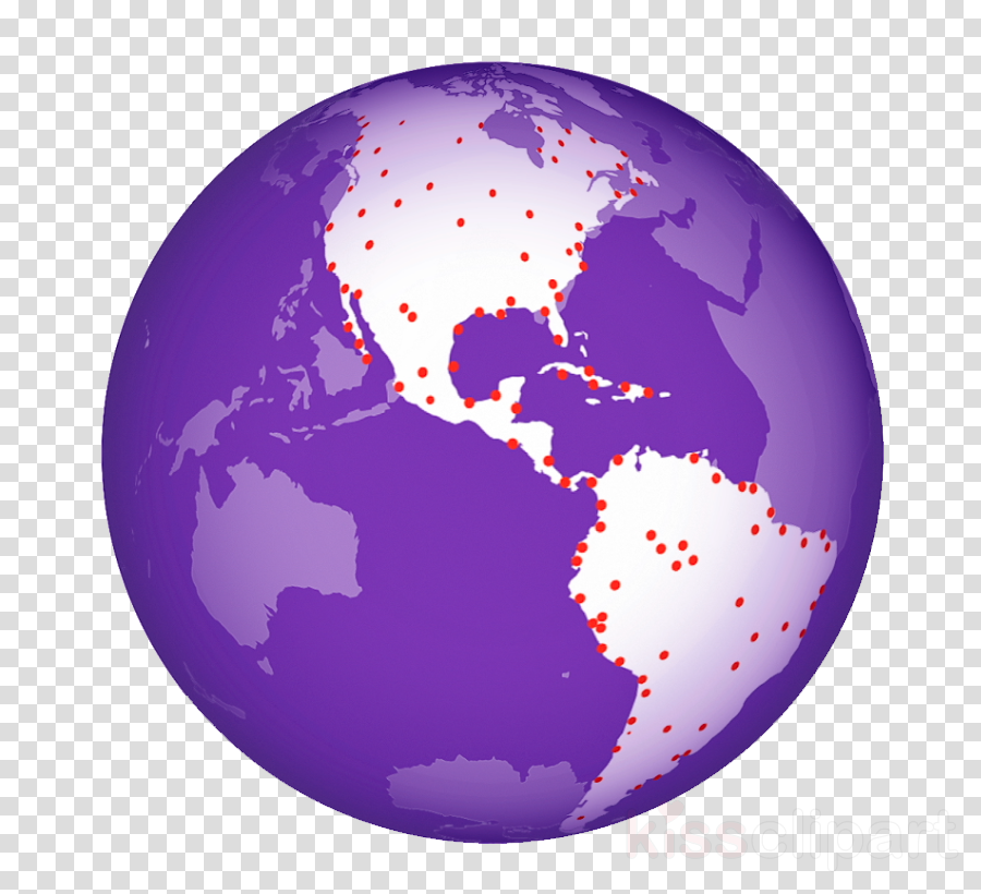 globe purple world earth planet