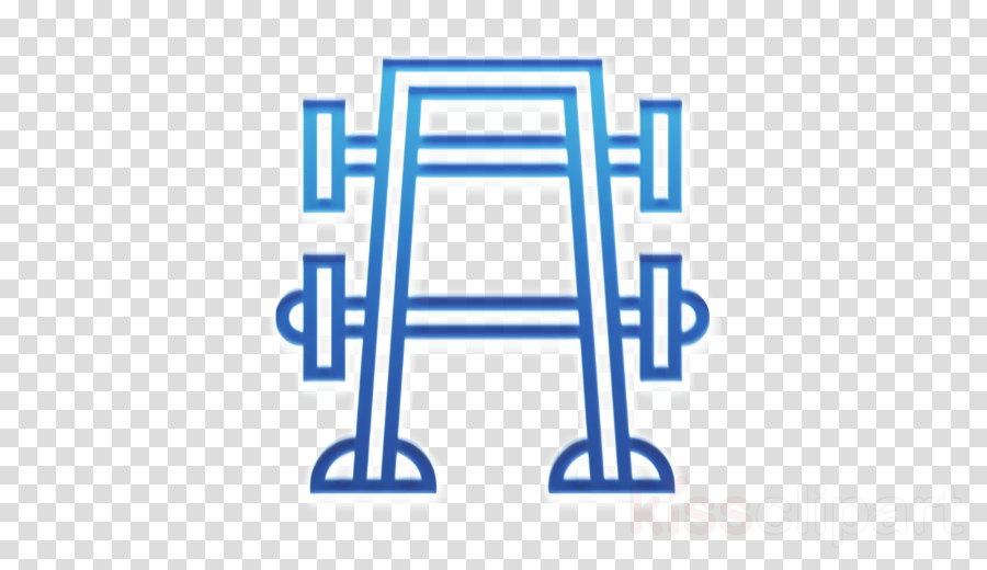 Fitness icon Bench press icon Gym icon