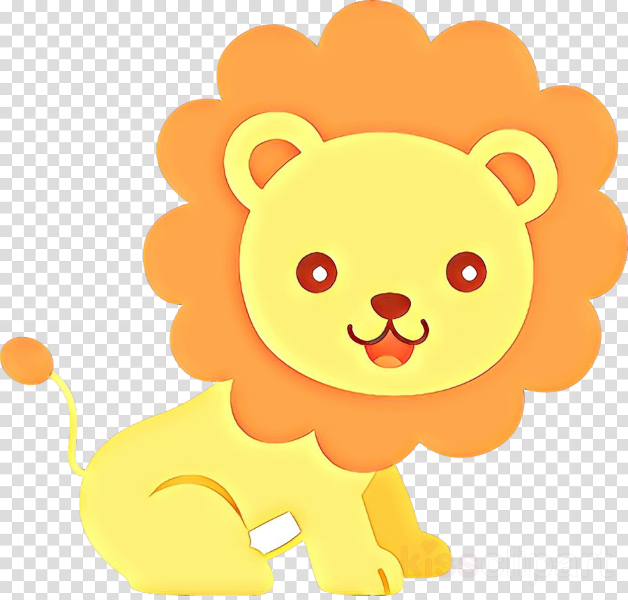 cartoon yellow lion smile