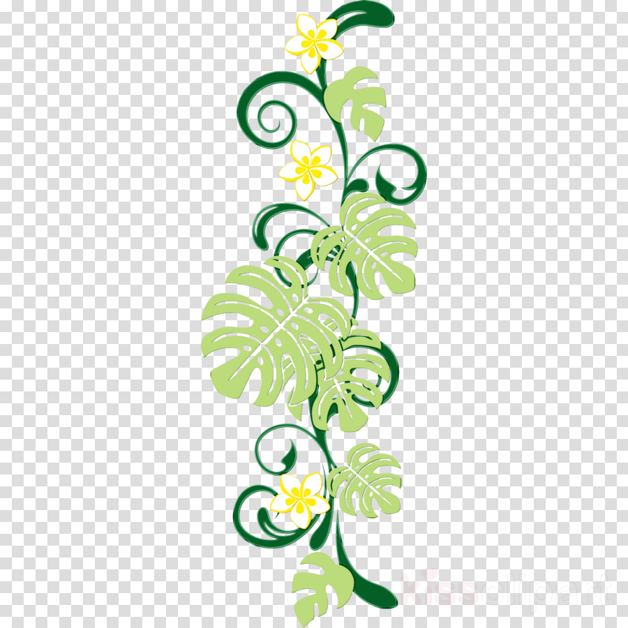green leaf plant line art pattern