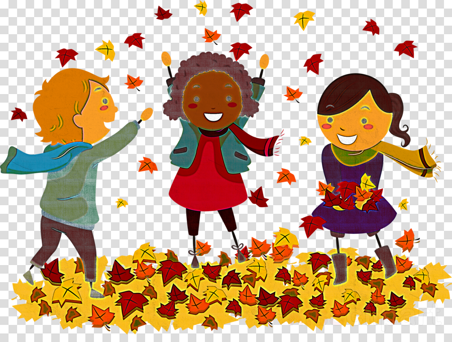 people in nature cartoon playing with kids sharing happy