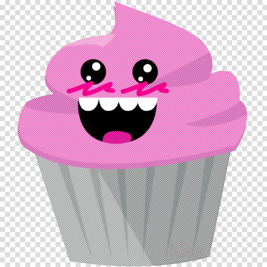 pink baking cup cartoon cupcake purple