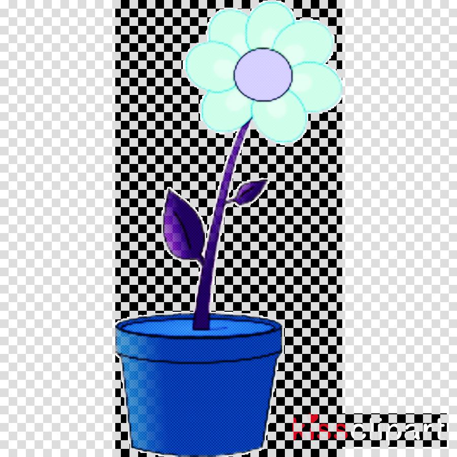 violet flowerpot purple flower plant
