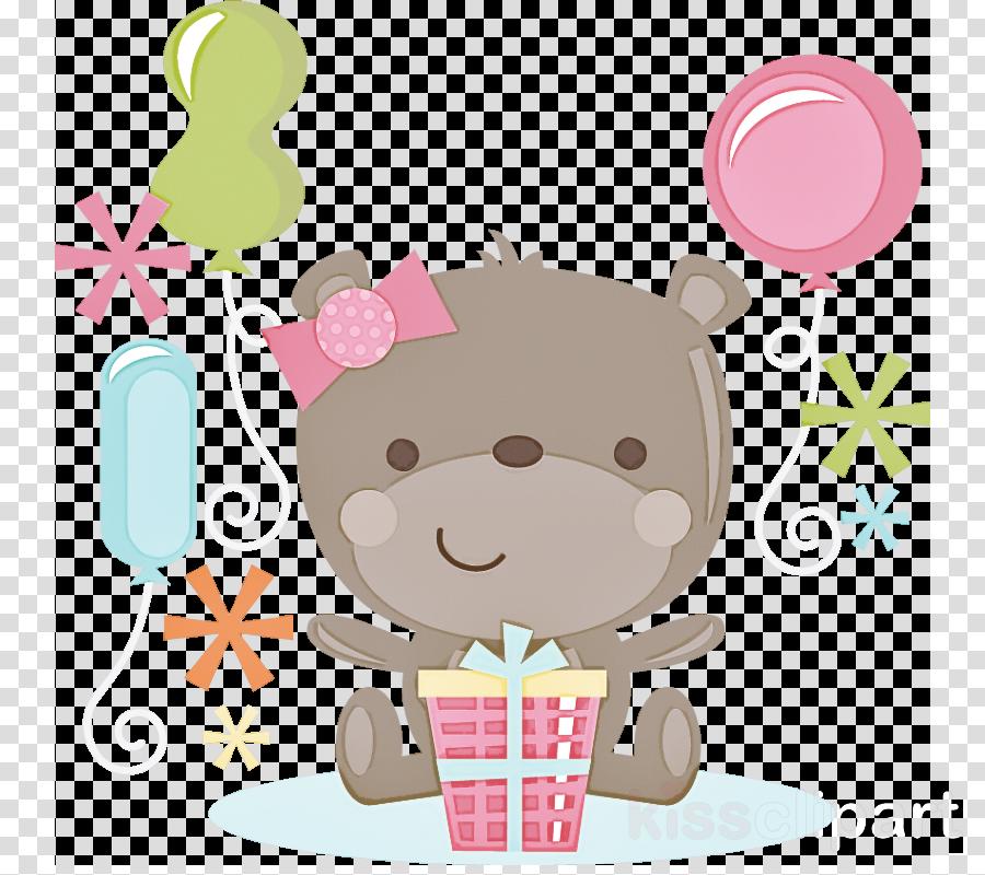 cartoon pink sticker child