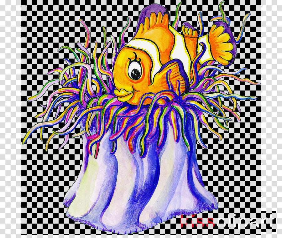 aquarium decor sea anemone