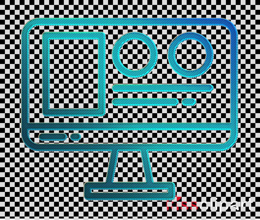 Startup New business icon Web design icon Monitor icon