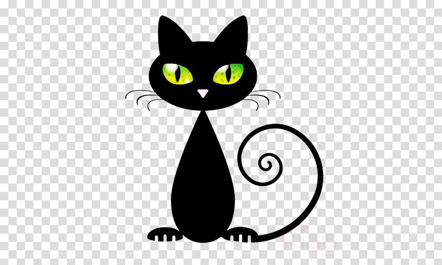 cat black cat small to medium-sized cats whiskers cartoon