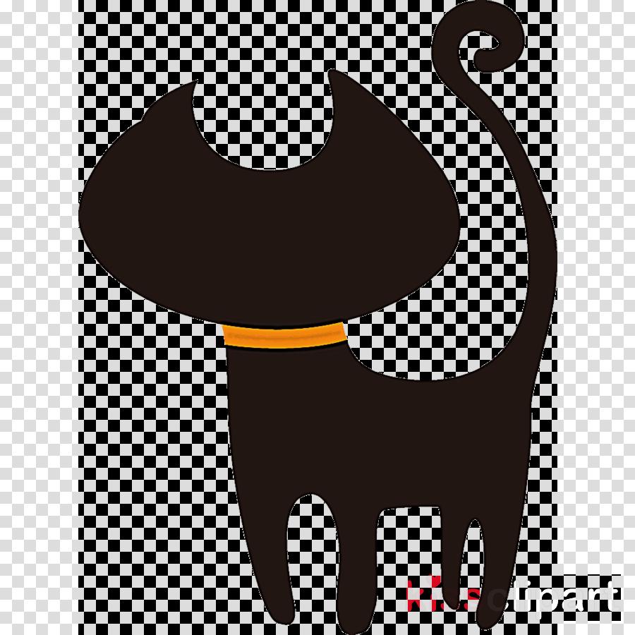 halloween black cat scaredy cat