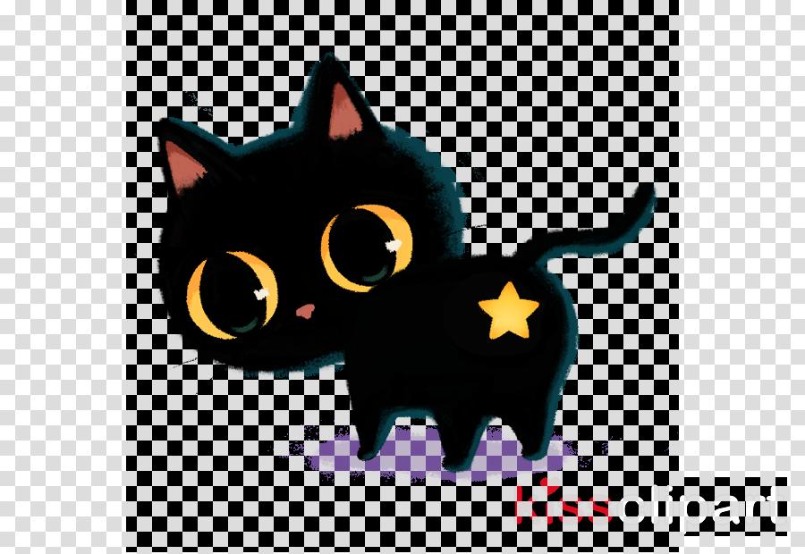 cat black cat small to medium-sized cats cartoon bombay