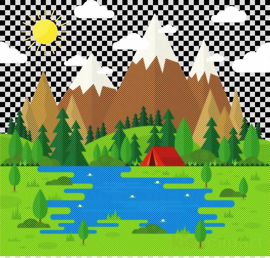 natural landscape tree hill landscape