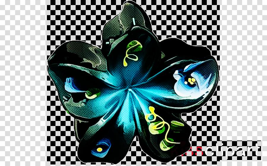 blue turquoise plant flower symbol