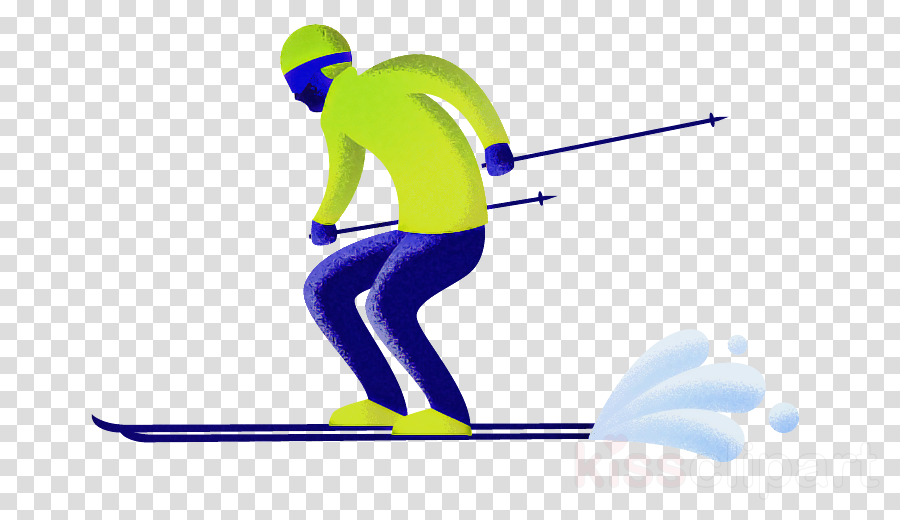 skier standing recreation line joint