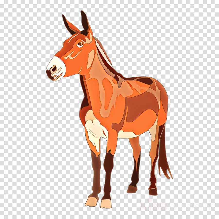 animal figure sorrel horse burro cartoon