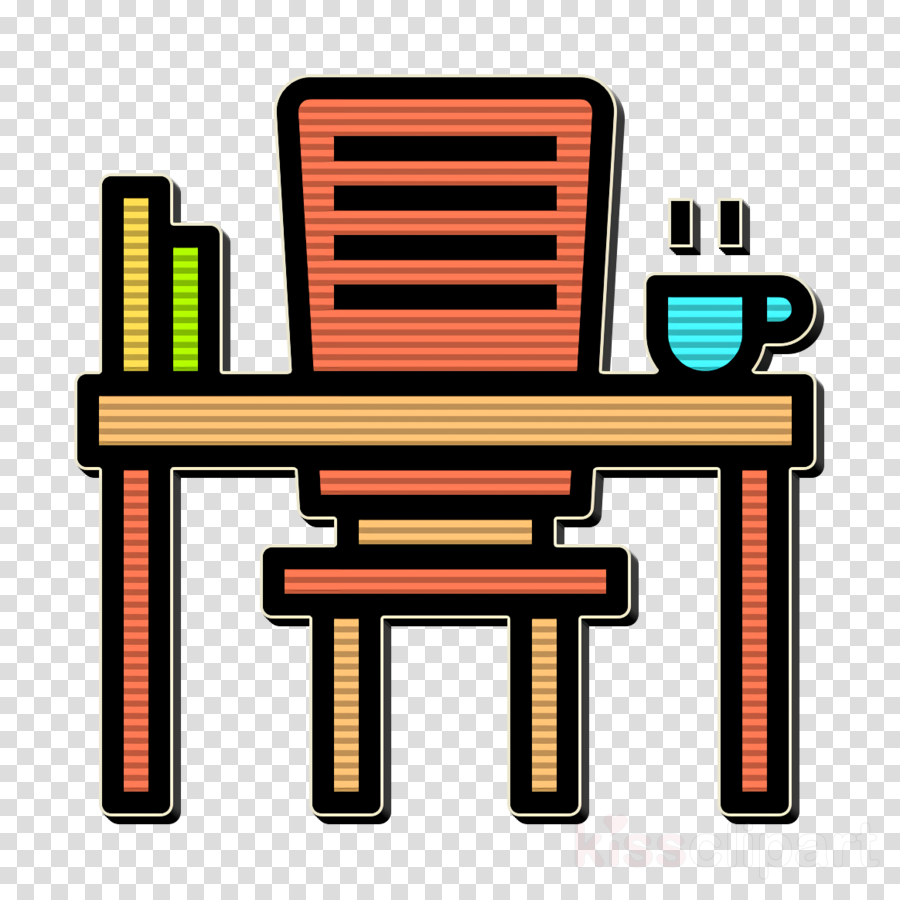 Desk icon Office Stationery icon