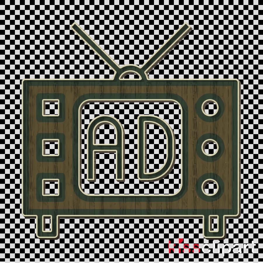 Tv icon Television icon Advertising icon