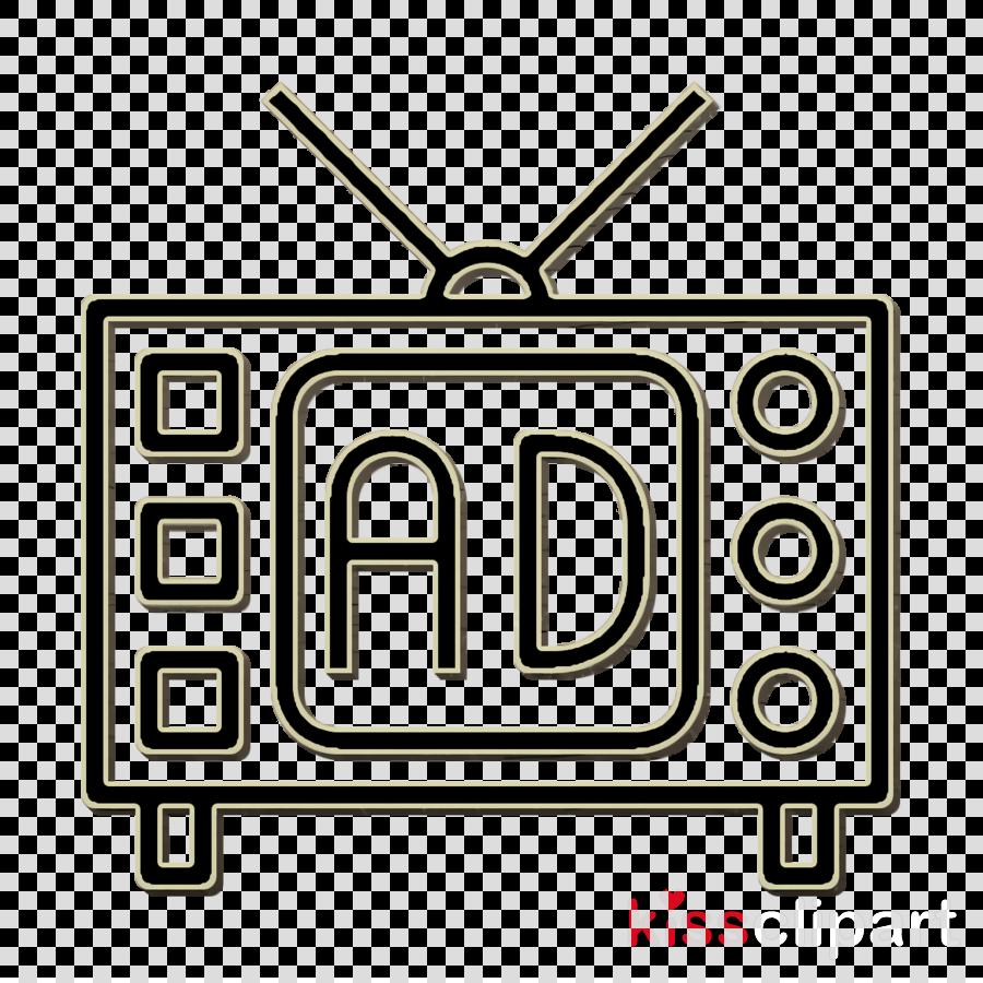 Tv icon Advertising icon Television icon