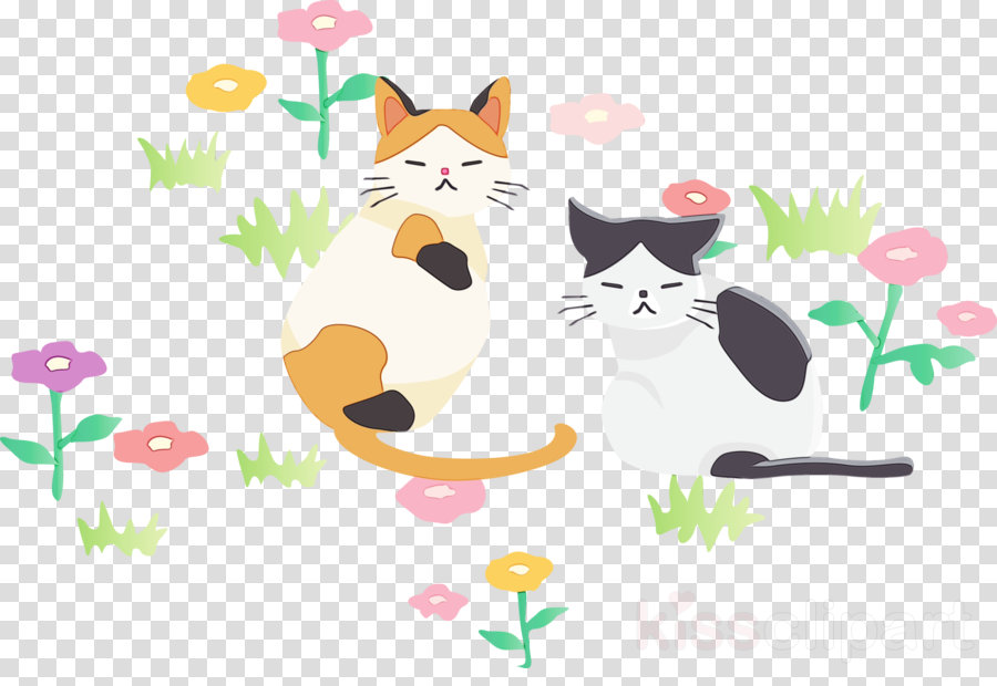 cartoon cat whiskers font small to medium-sized cats