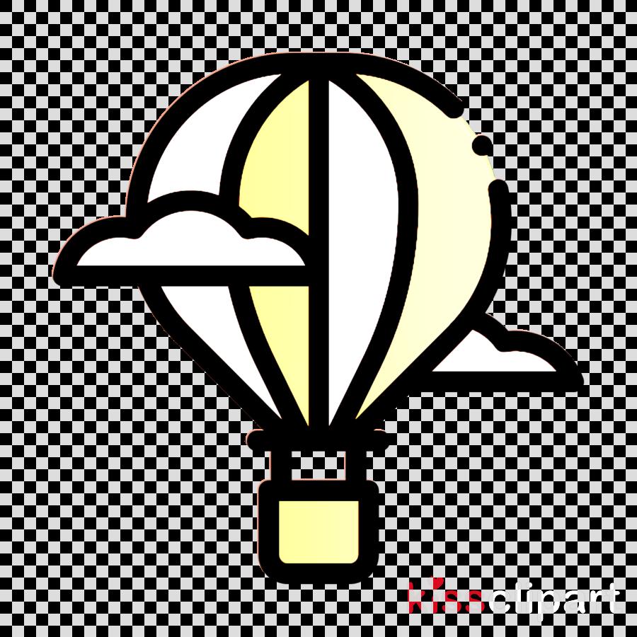 Holidays icon Trip icon Hot air balloon icon