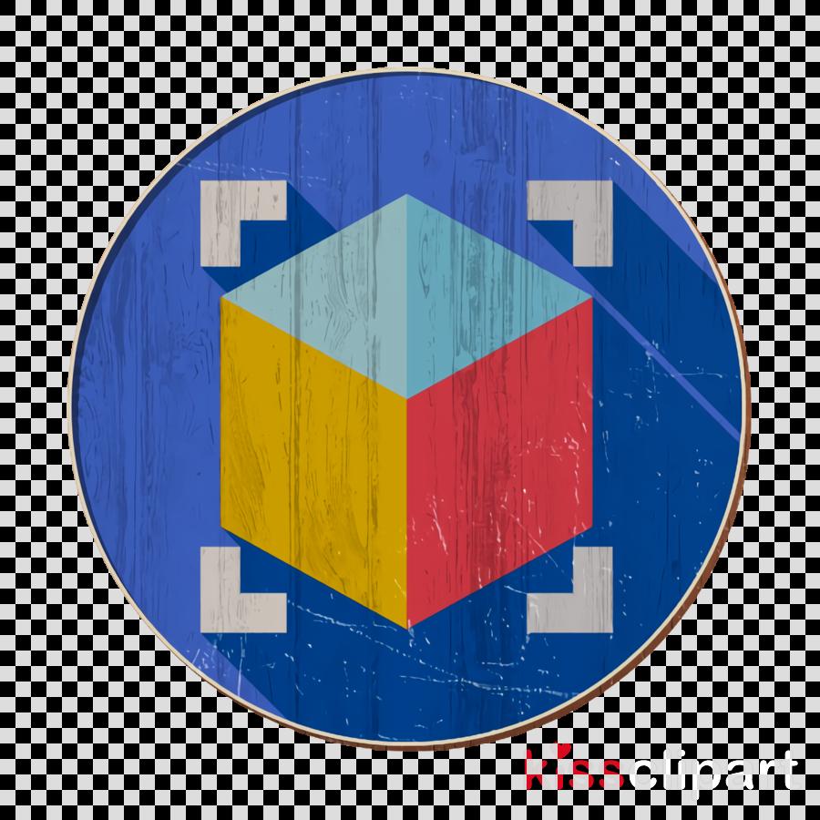 3D Printing icon 3D design icon Cube icon