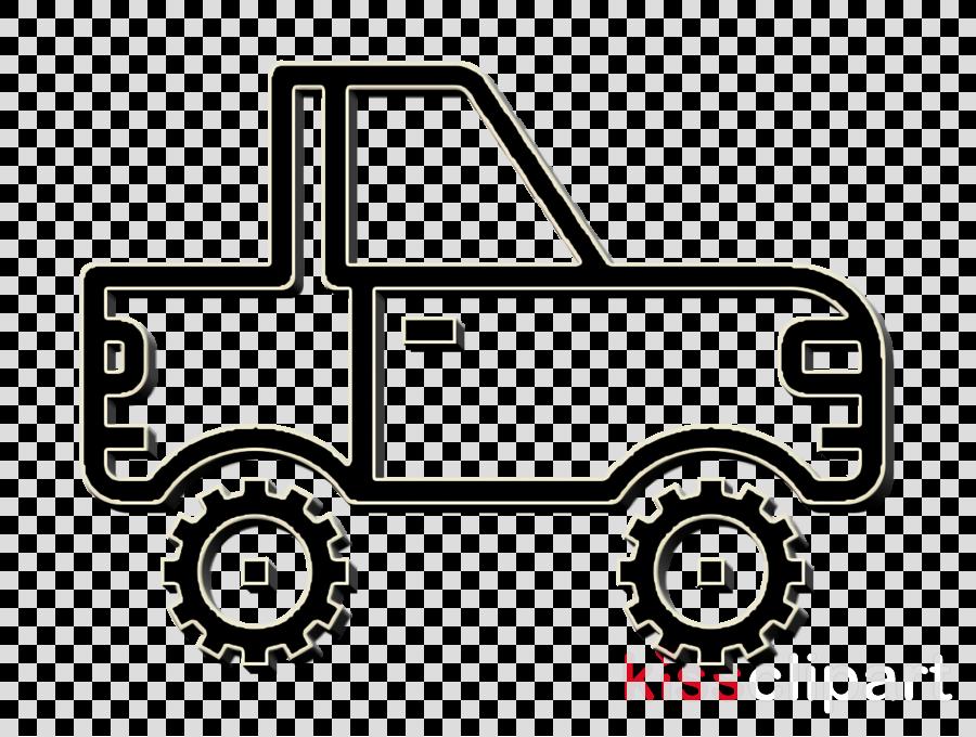 Military vehicle icon Car icon Jeep icon