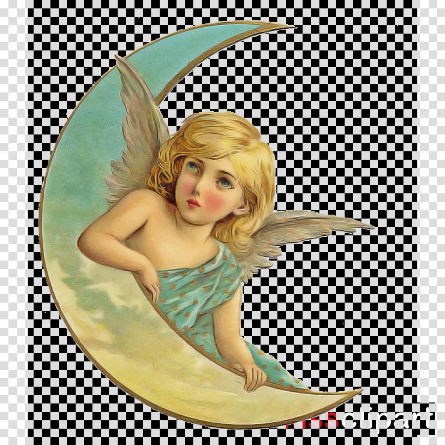 angel cartoon wing surfing