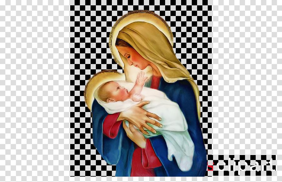 pray nativity scene child mother blessing