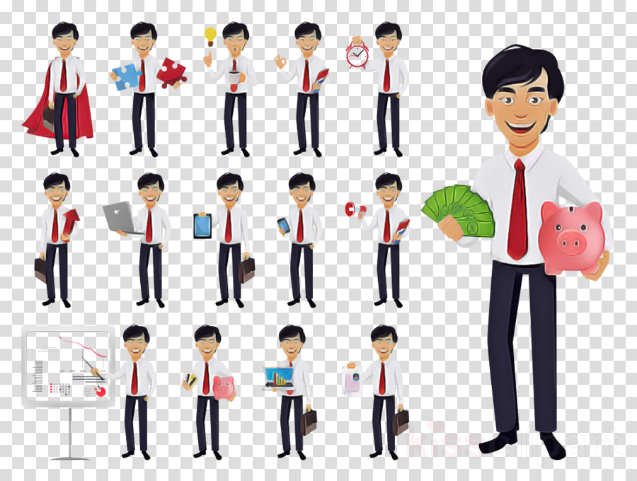people social group cartoon standing uniform