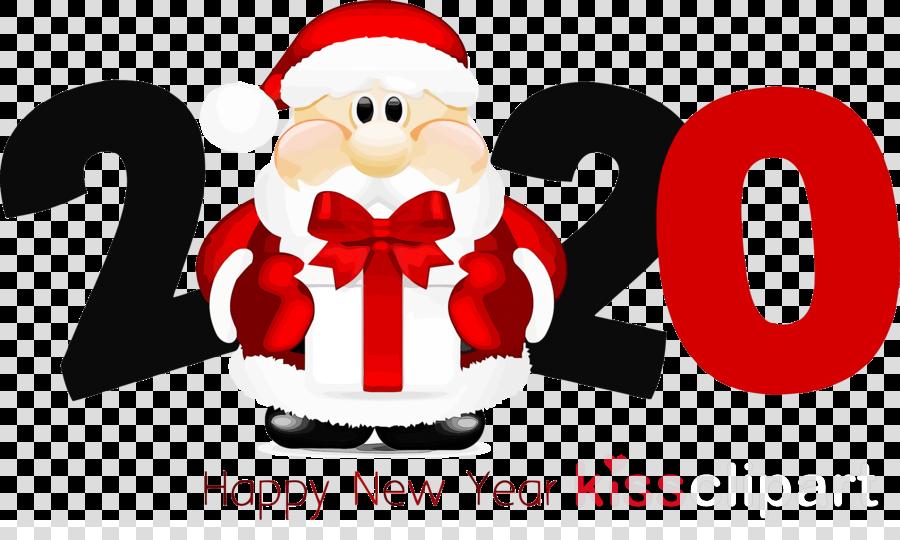 Christmas 2020 Clip Art happy new year 2020 new years 2020 2020 clipart   Santa Claus