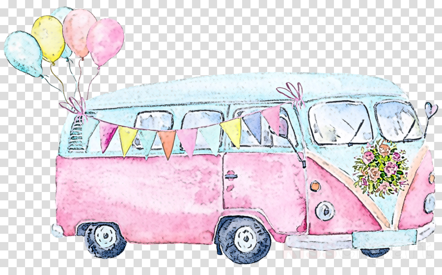 pink car vehicle transport van
