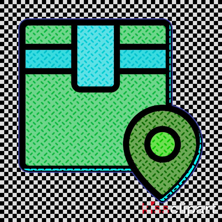 Logistics icon Navigation icon Maps and location icon