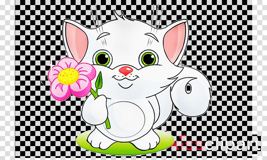 cartoon whiskers snout cat line art