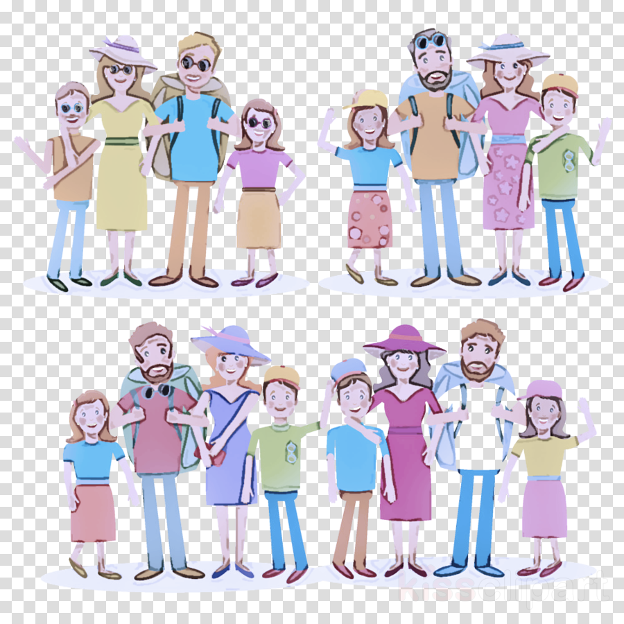 social group cartoon team uniform