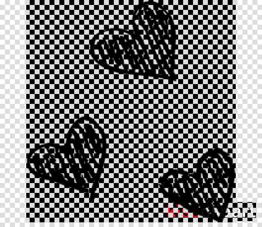 line heart font line art black-and-white
