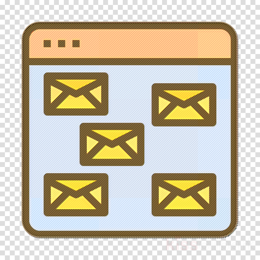 Contact And Message icon Email icon Seo and web icon