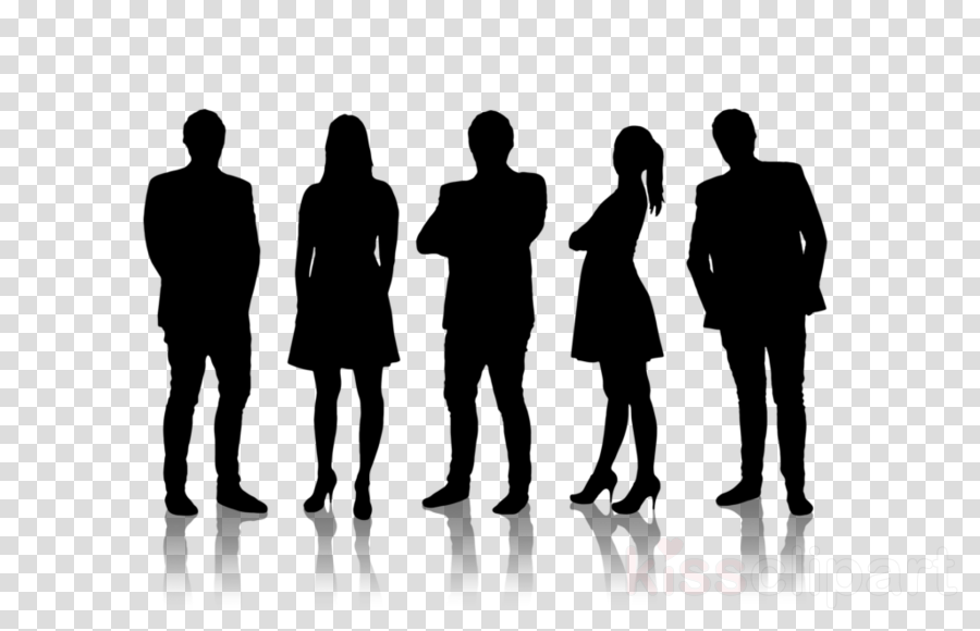 people social group silhouette standing human