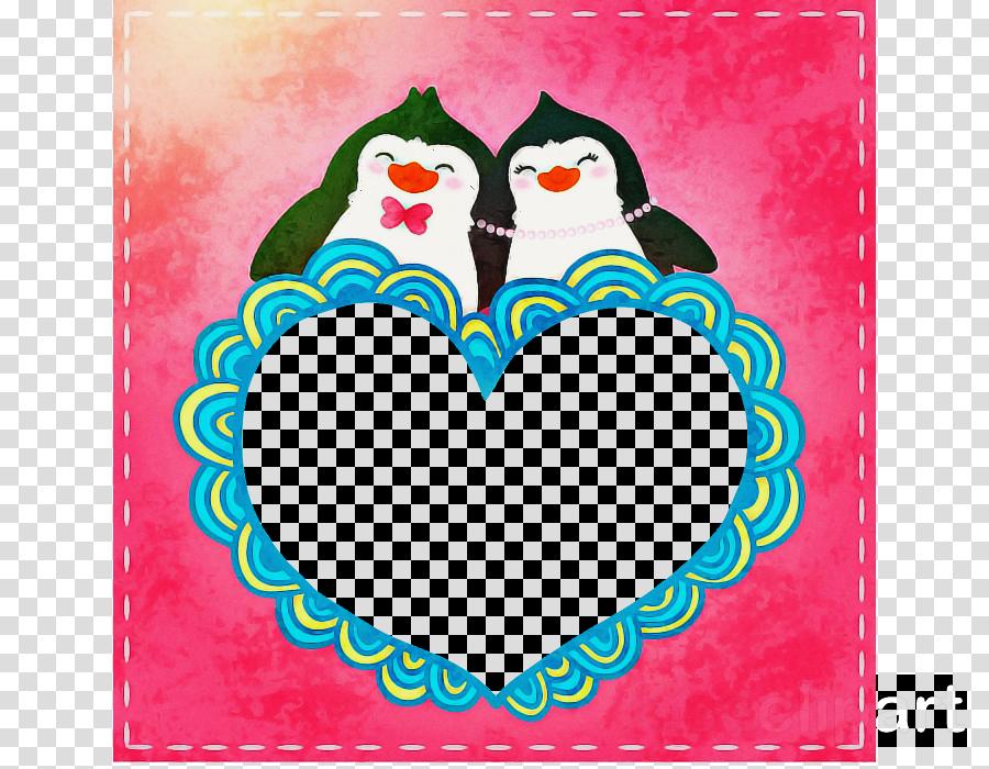 red bird heart love flightless bird