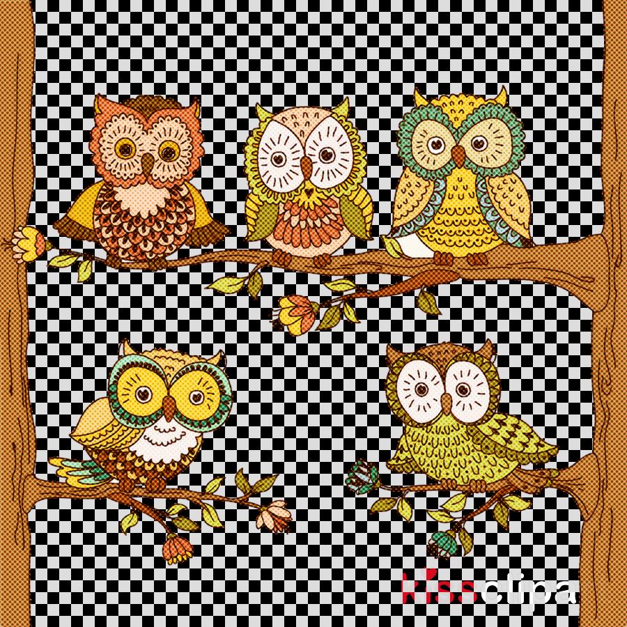 owl yellow cushion pillow branch
