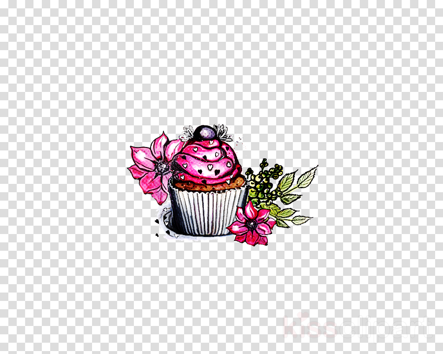 cupcake baking cup pink muffin cake