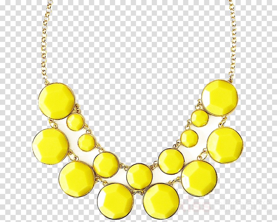 jewellery necklace yellow body jewelry bead