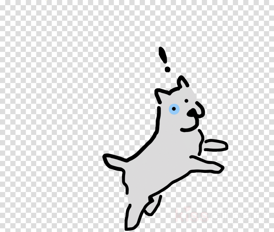 white line art cartoon tail snout