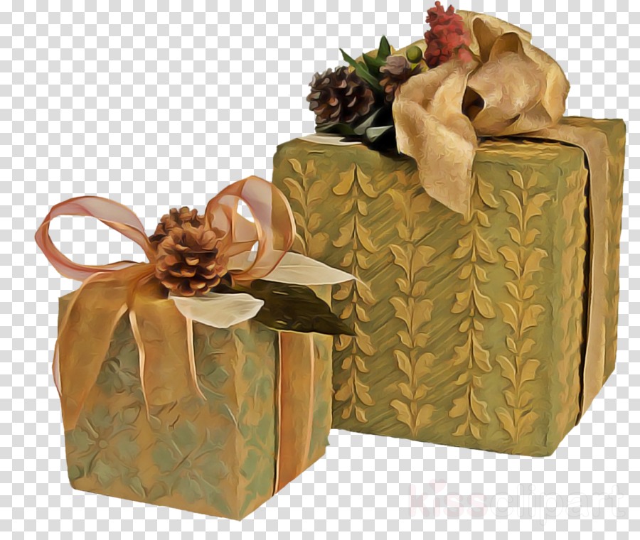 present gift wrapping box packaging and labeling