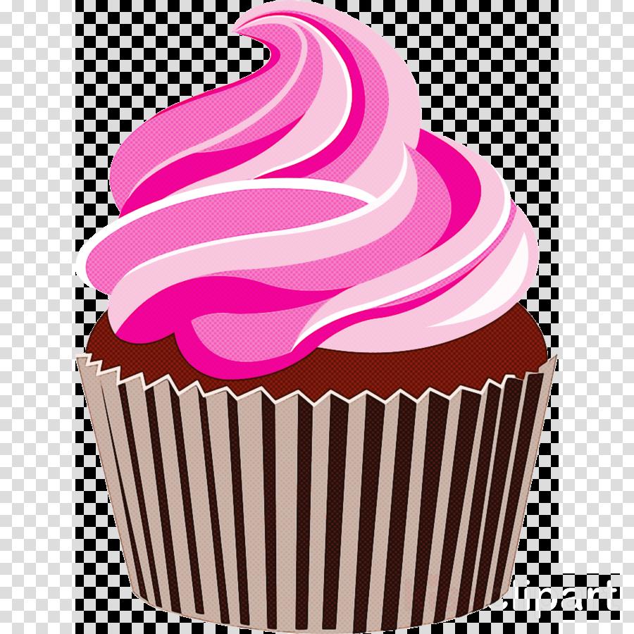cupcake baking cup pink icing food