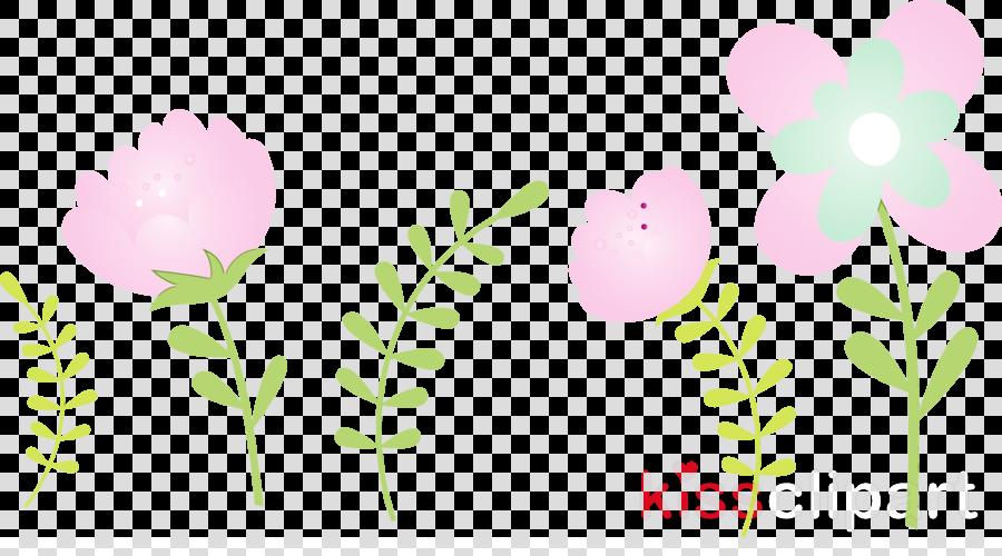 pink flower pedicel plant leaf