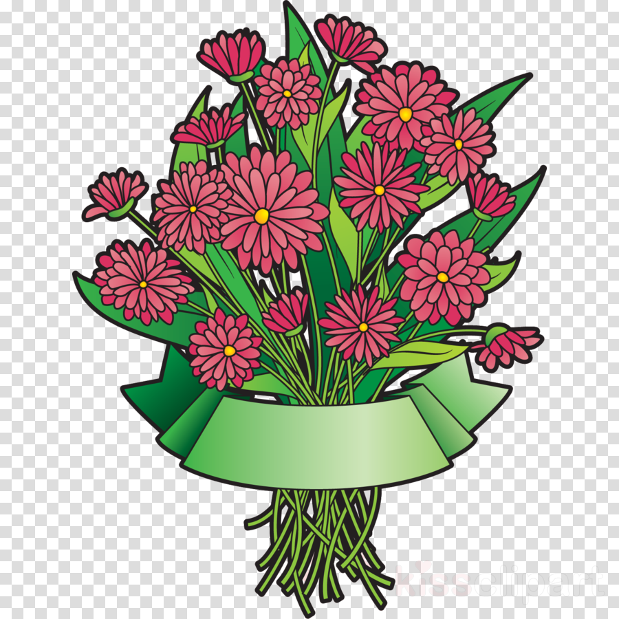 Flower Bouquet Flower Bunch Ribbon