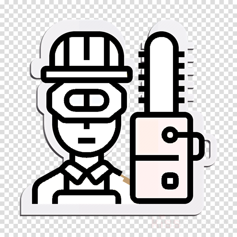 Carpenter icon Worker icon Career icon